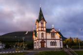 Quaint church in Husavik — Stock Photo