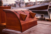 Deck of a wooden ship — Stock Photo