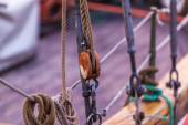 Wooden sailing ship — Stock fotografie