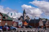 Quaint historical wooden church — Stock Photo