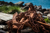 Old rusty large anchor — Stock Photo