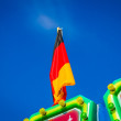 German flag on a green roof — Stock Photo #52512013