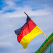 German flag on a green roof — Stock Photo #52512029