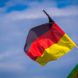 German flag on a green roof — Stock Photo #52512031