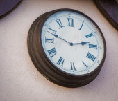 Old clock on a wall — Stock Photo