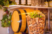 Glass of corks — Stock Photo