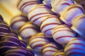 Cherries coated with chocolate — Stock Photo