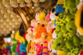 Orange soft toy hamster — Zdjęcie stockowe