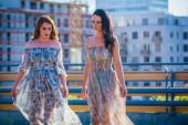 Women with nice dresses — Stock Photo