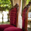 Two old vintage wedding chairs — Stock Photo #54564359