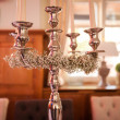 Silver candle holder — Stock Photo #54564667