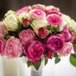 Wedding bouquet out of white and pink roses — Stock Photo #54564751