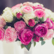 Wedding bouquet out of white and pink roses — Stock Photo #54564755