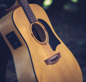 Acoustic guitar out of light wood  — Photo
