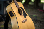 Acoustic guitar out of light wood  — Foto Stock