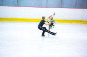 A. Marie Wolf and Kieren Wagner at the Ice Dance — Stock Photo