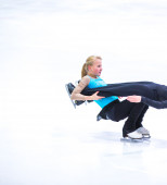 Diana Scheidt and Asaf Kazimov at the Ice Dance — Stock Photo