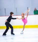 Julia Albrecht and Aleksandar Bulatovic at the Ice Dance — Stock Photo