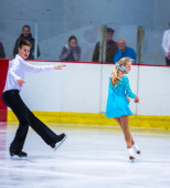 Ramona Grimm and Markus Konig at the Ice Dance — Stock Photo