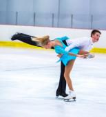 Ramona Grimm and Markus Konig at the Ice Dance — Stock Photo