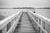 白色的码头 — 图库照片