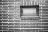 Redbrick wall with window — Stock Photo