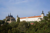 Saint Barbara's Church and former Jesuit College in Kutna Hora — Stock Photo