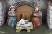 Handmade Christmas crib — ストック写真