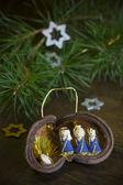 Christmas decoration with Native scene — Photo