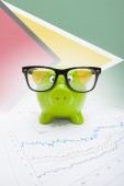 Piggy bank with flag on background - Guyana — Stock Photo