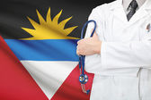 Concept of national healthcare system - Antigua and Barbuda — Stock Photo