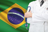 Concept of national healthcare system - Brazil — Stock Photo