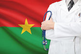 Concept of national healthcare system - Burkina Faso — Stock Photo