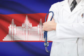 Concept of national healthcare system - Cambodia — Stock Photo