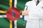Concept of national healthcare system - Dominica — Stock Photo