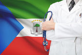 Concept of national healthcare system - Equatorial Guinea — Stock Photo
