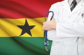 Concept of national healthcare system - Ghana — Stock Photo
