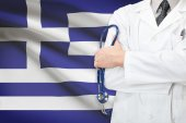 Concept of national healthcare system - Greece — Stock Photo