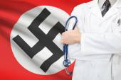 Concept of national healthcare system - Nazi Germany and the Third Reich flag — Stock Photo