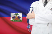 Concept of national healthcare system - Haiti — Stock Photo