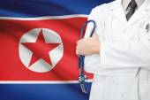 Concept of national healthcare system - North Korea — Stock Photo