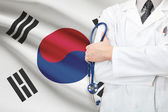 Concept of national healthcare system - South Korea — Stock Photo