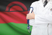 Concept of national healthcare system - Malawi — Stock Photo