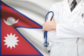 Concept of national healthcare system - Nepal — Stock Photo