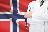 Concept of national healthcare system - Norway — Stock Photo