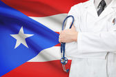 Concept of national healthcare system - Puerto Rico — Stock Photo