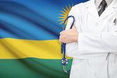 Concept of national healthcare system - Rwanda — Stock Photo