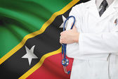 Concept of national healthcare system - Saint Kitts and Nevis — Stock Photo