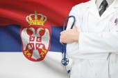 Concept of national healthcare system - Serbia — Stock Photo