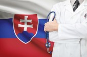 Concept of national healthcare system - Slovakia — Stock Photo
